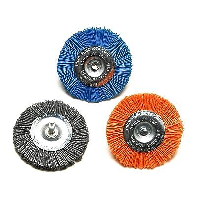 "Dico 50-3 Wheel Nyalox Wheel Kit 3"" Assorted Wheel Brushes, 3Piece: Home Improvement"