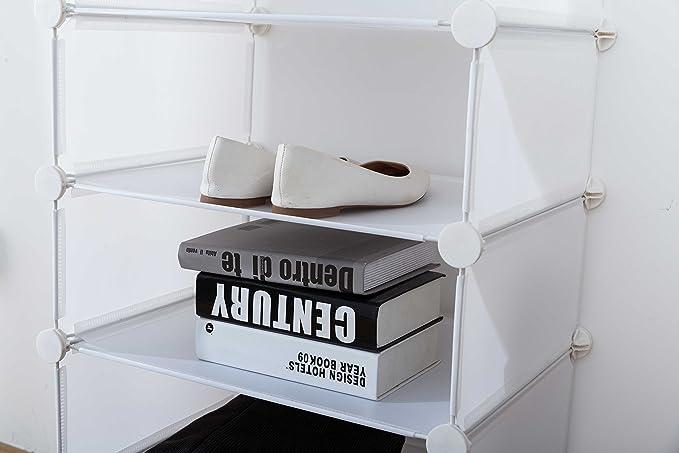 Inxact Placard À Chaussures Cordonnerie, 3-6 Tablettes, Blanc