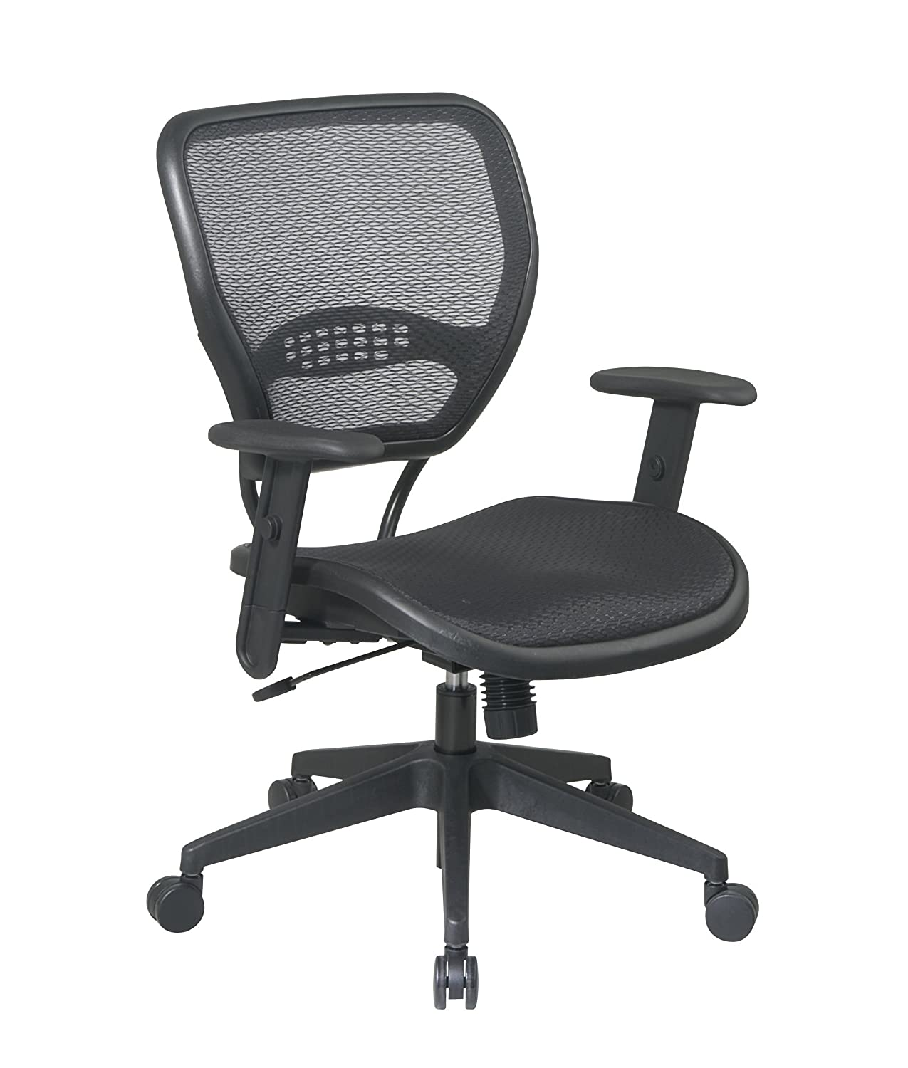 com dp kitchen mesh space x amazon grid deluxe chair task air office dining black