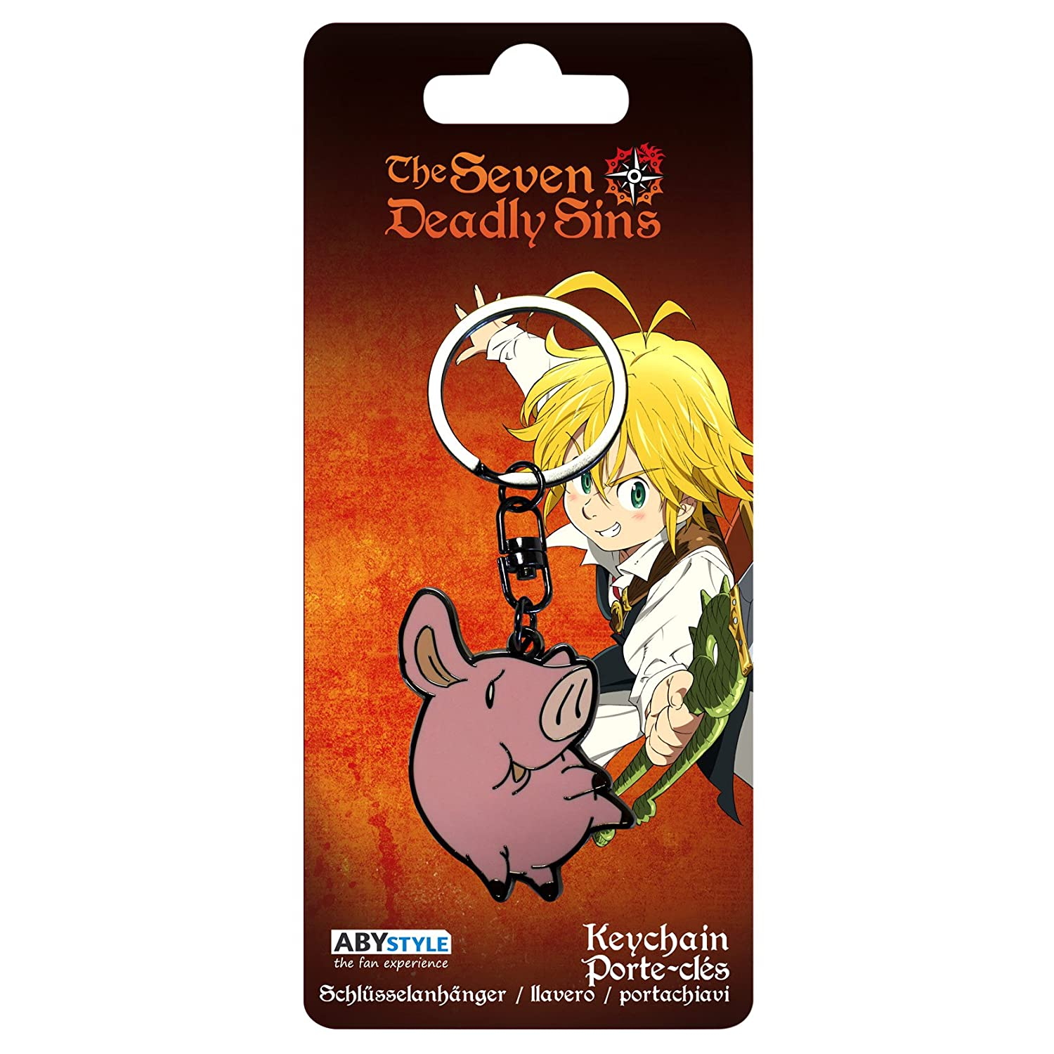 ABYstyle Abysse Corp_ABYKEY189 Seven Deadly Sins-Keychain Hawk X4, Multi Colour