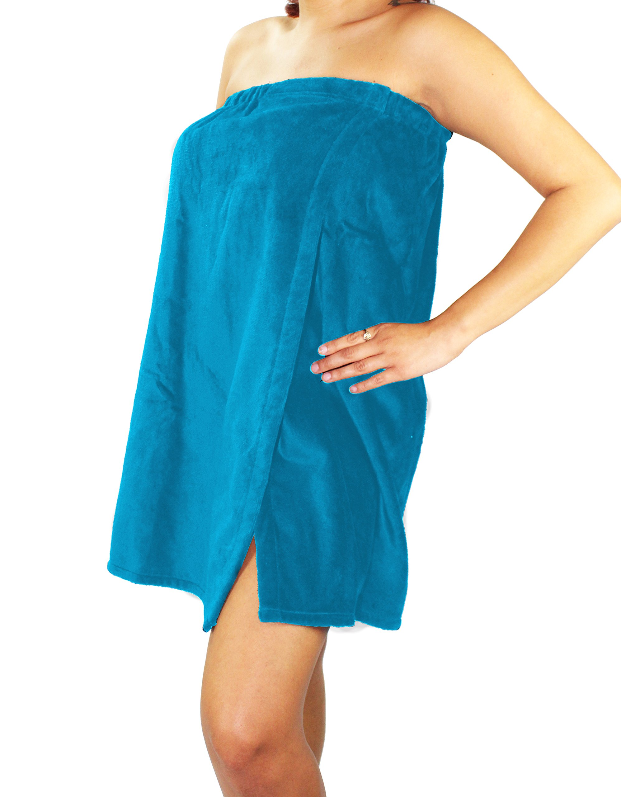 Sanders Classics 25'' Terry Towel Wrap - Turquoise