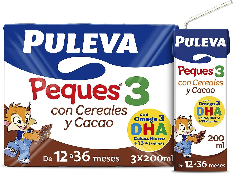 Puleva Peques Leche Infantil de Crecimiento con Cereales Tipo 3 - Pack de 3 x 200 ml - Total: 600 ml: Amazon.es: Alimentación y bebidas