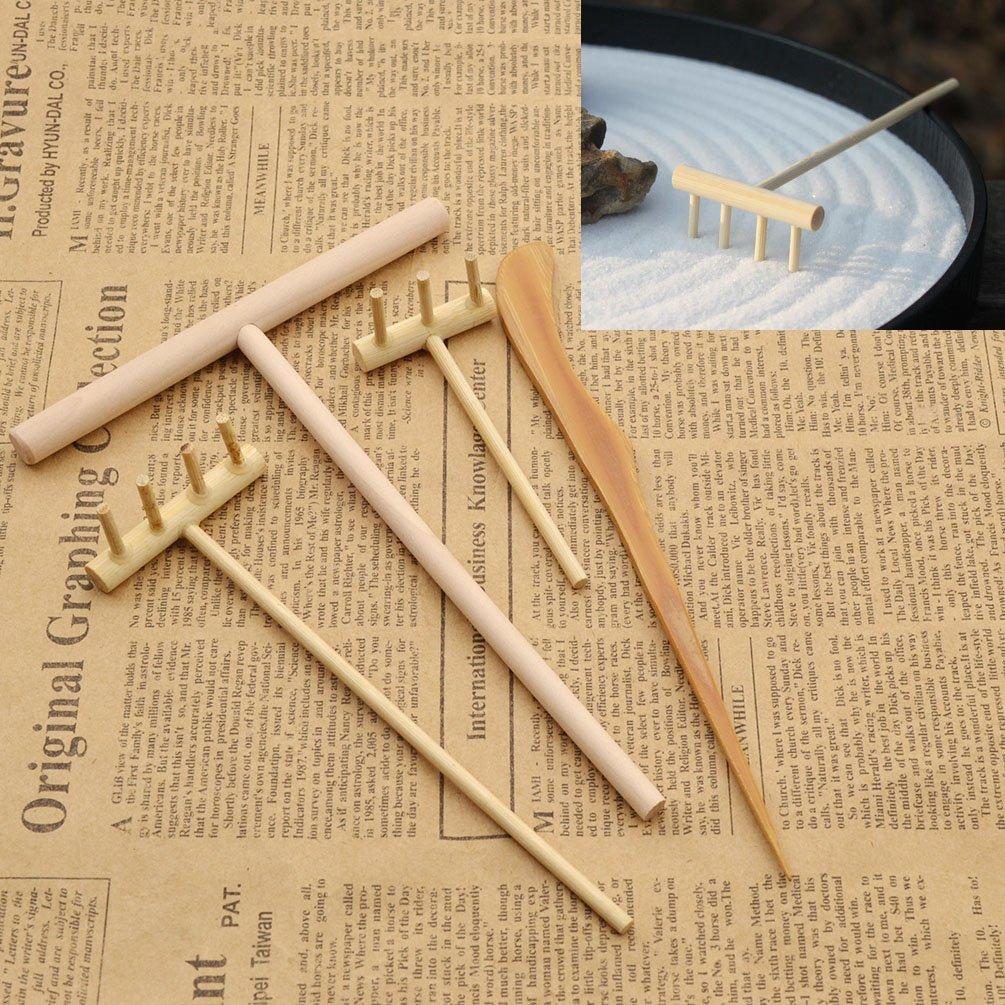 Amazon.com: Qlychee Novelty Zen Garden Rake Decor Accessories Mini Zen  Garden Art Kit Sand Push Pen: Home U0026 Kitchen