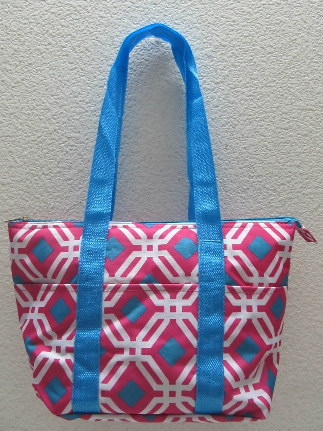 Good Bag Insulated Lunch Bag Portable Carry Storage Lunch Tote Bag - Pink Graphic