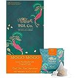 TGL Mogo Mogo Green Tea, 16 Tea Bags (15 Tea Bags + 1 Free Exotic Sample)