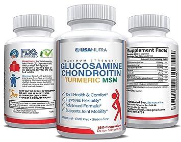 Amazon.com: Glucosamina Condroitina Cúrcuma MSM, 180: Health ...
