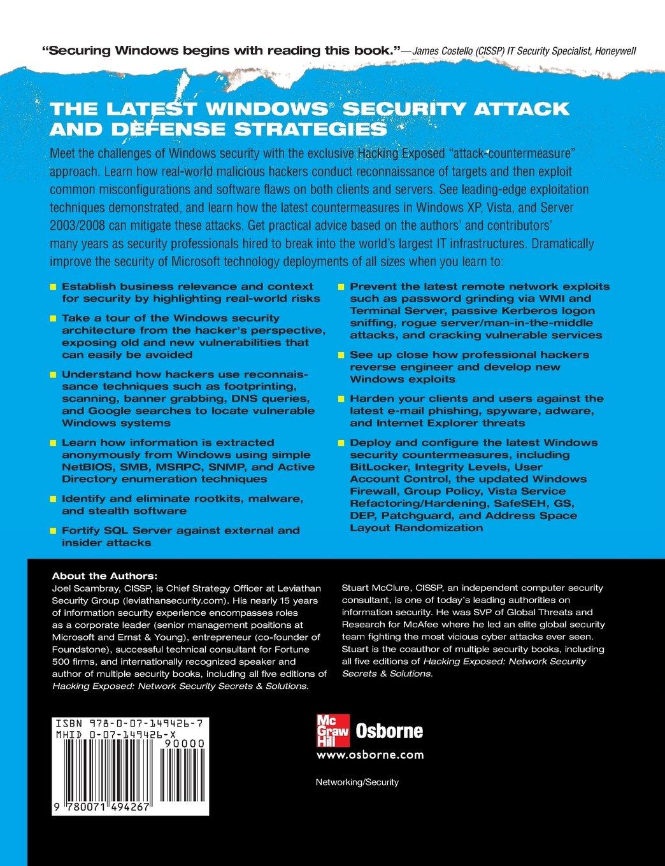Amazon fr - Hacking Exposed Windows: Microsoft Windows Security