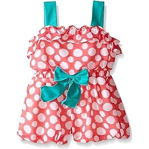 ccb608098a79 Amazon.com  Rare Editions Little Girls  Toddler Daisy Print Romper ...