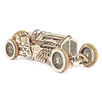 UGears Mechanical Models 3-D Wooden Puzzle - Mechanical U-9 Grand Prix Car : UGEARS: Toys & Games