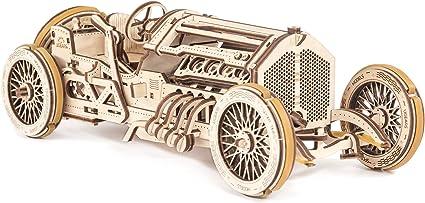 Amazon.com: UGears Mechanical Models 3-D Wooden Puzzle - Mechanical U-9  Grand Prix Car: UGEARS: Toys & Games
