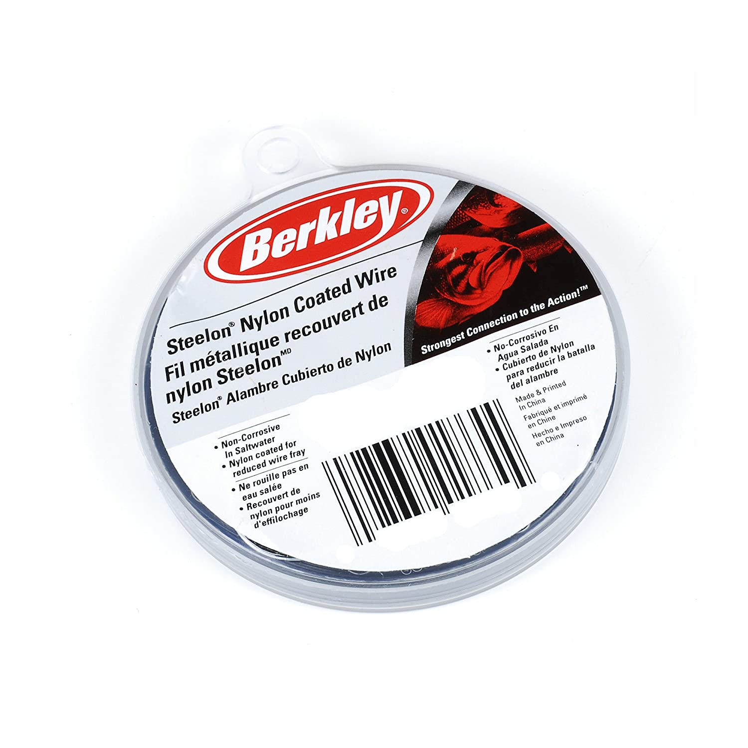 Berkley Steelon Nylon Coated Wire with Line Test, Black, 30-Feet/80-Pound Pure Fishing D80BL