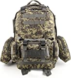 MultiWare 50L Molle 3 Day Tactical Rucksack Military Backpack Assault Pack Camping Bag
