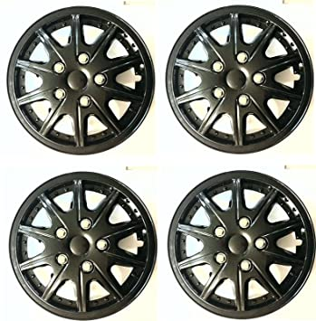 "XtremeAuto® Rally Sport 15"" coche negro Embellecedores Tapacubos cubre Multi-Spoke - incluye"