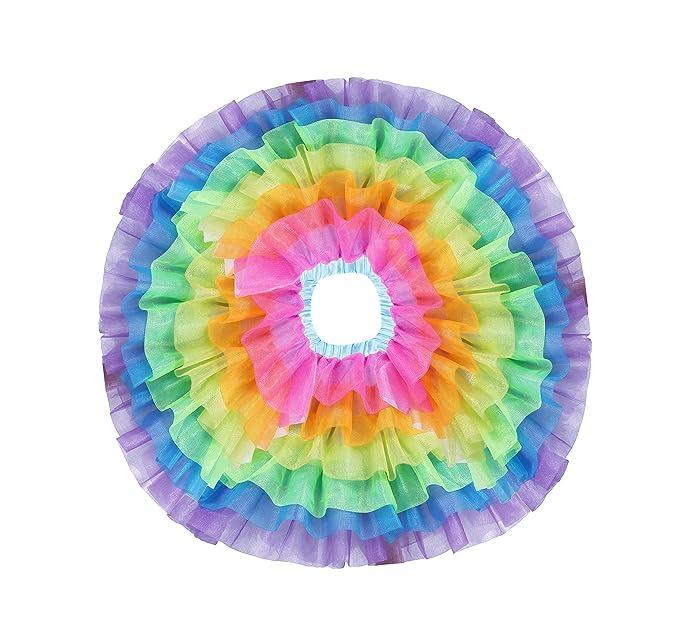c71c8410a4544 Girls Rainbow Tutu Skirt for Women Tulle Unicorn Skirts Ballet Bubble Skirt  for Party Sports Dress Up Dancing