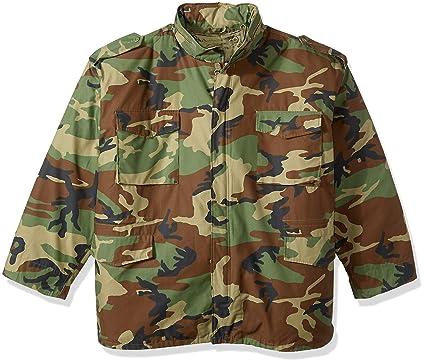 80641c0d11232 Amazon.com: Rothco M-65 Field Jacket - Woodland Camo: Sports & Outdoors