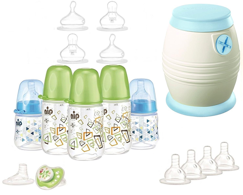 nip Starterset - Alles für den Anfang - Cool Twister - Flaschenset - Saugerset plus überraschungsgeschenk für Jungen