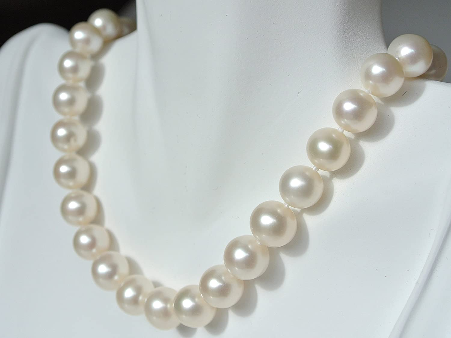 Pearl Romance II Round Pearl II Classic Cultured Freshwater White Strand Pearl Necklace for Women Jewelry Christmas Genuine