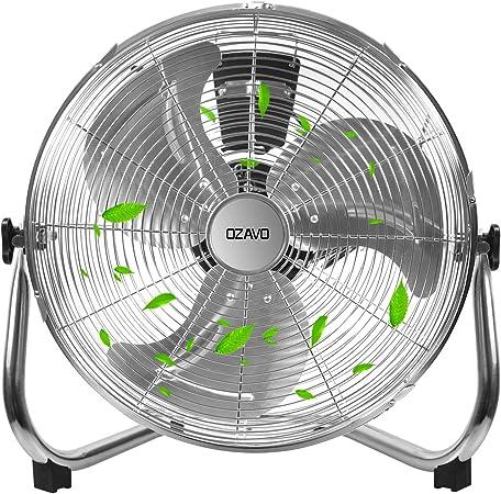 OZAVO Ventilador de Suelo 50CM, Power Fan, Metálico Máquina de ...
