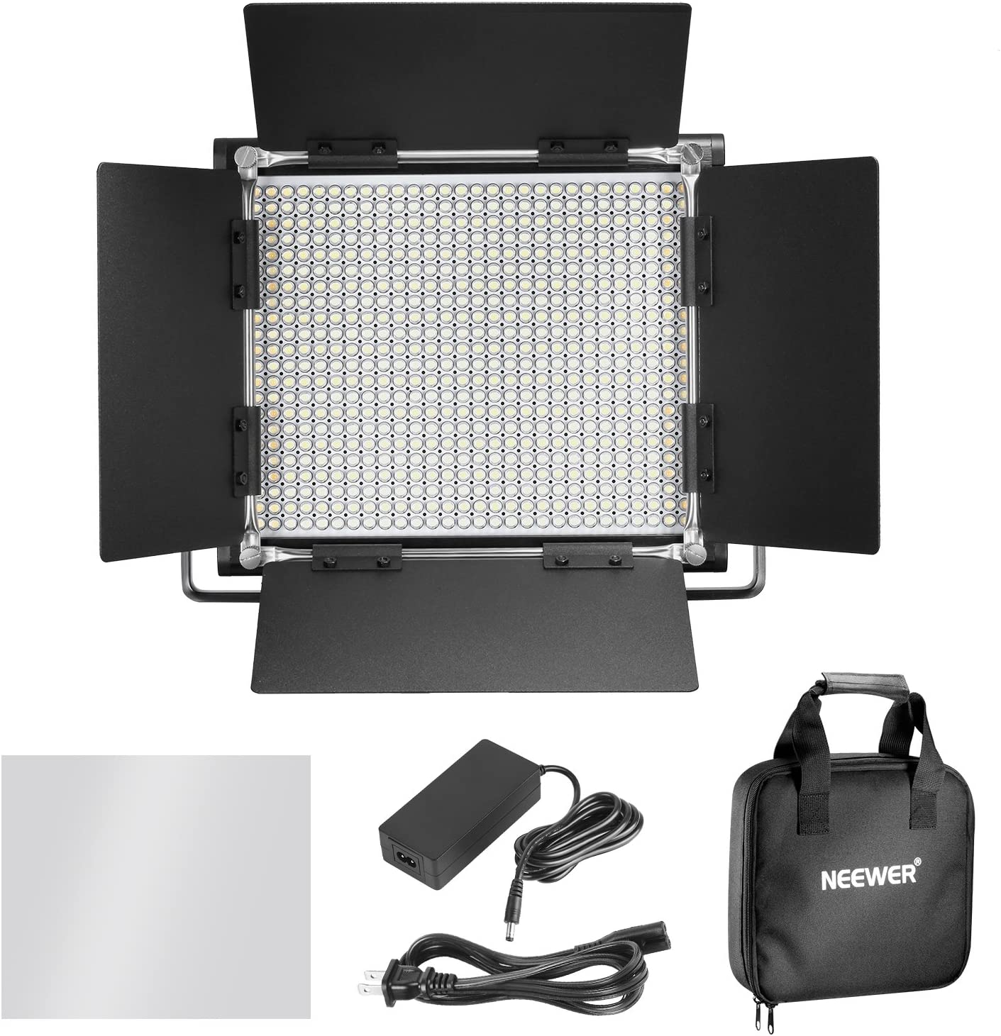Neewer 2 Packs Advanced 2.4G 660 LED Video Light Photography Lighting Kit 2.4G Wireless Remote and Light Stand for Portrait Product Photography Dimmable Bi-Color LED Panel with LCD Screen
