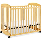 Davinci Alpha Mini Rocking Crib in Natural, Removable Wheels, Greenguard Gold Certified