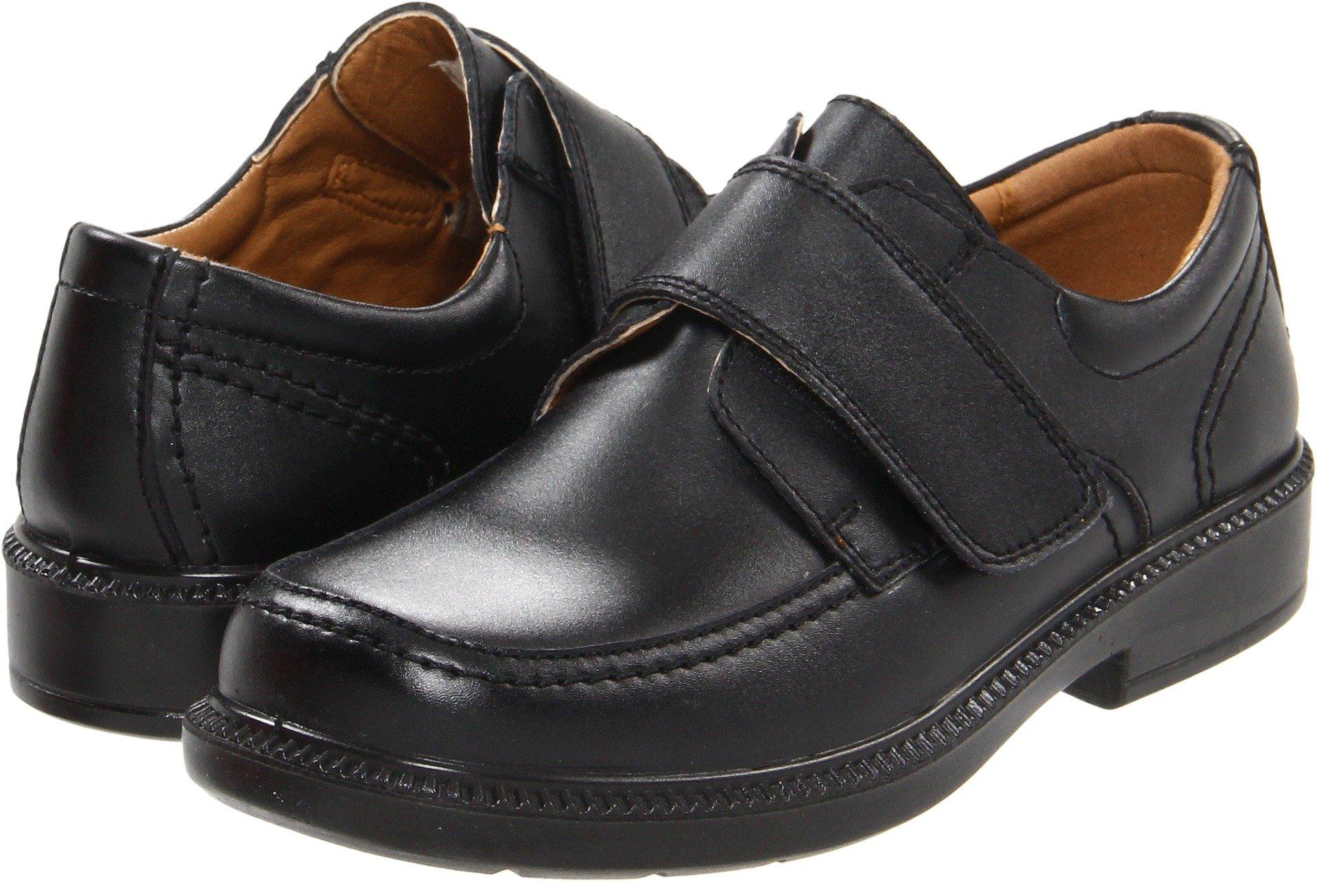 Florsheim Kids Berwyn JR Uniform Monk Strap Oxford (Little Kid/Big Kid), Black, 2 M US Little Kid