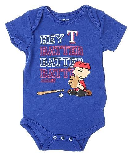 b612fbdd4 Amazon.com: Outerstuff MLB Texas Rangers Baby Boys Infants Peanuts ...