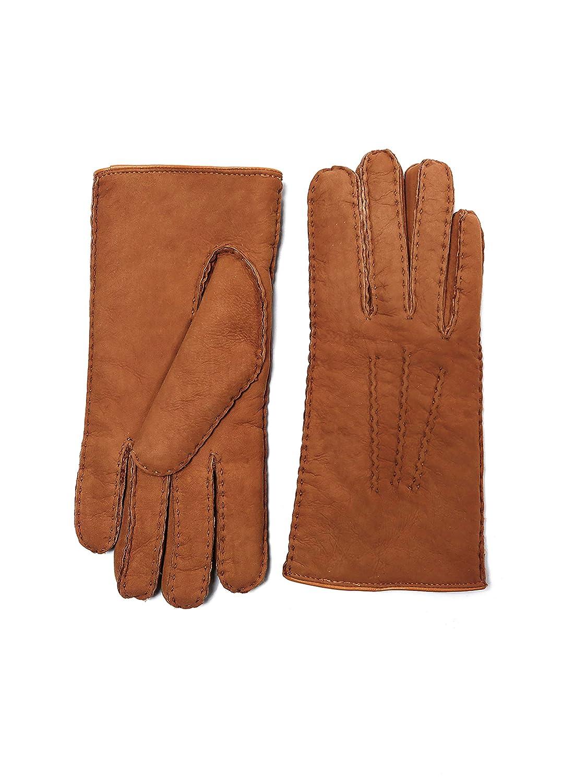 8f97a67a042fd YISEVEN Women's Curly Shearling Gloves New Zealand Lambskin Handmade