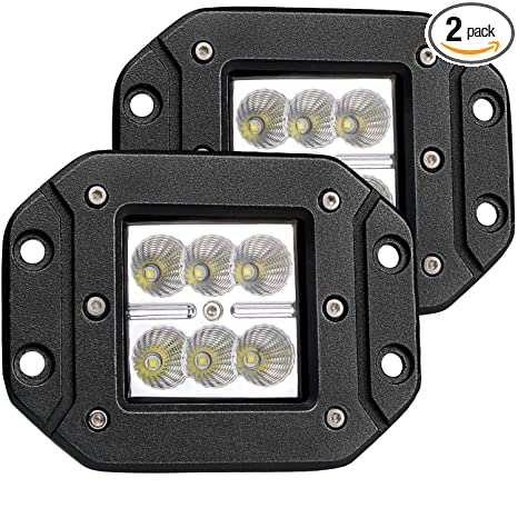 Amazon.com: Turbo 2pcs Flood 3x3 Dually Flush Mount Led Light Lamps on chevy express van light wiring diagram, nissan titan light wiring diagram, ford f-150 light wiring diagram, toyota tacoma light switch, dodge ram light wiring diagram,