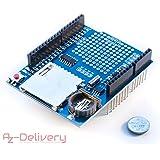 AZDelivery ⭐⭐⭐⭐⭐ DatenLogger Modul Logging Schild/Data Recorder/Data Logger Shield für Arduino mit Gratis eBook!