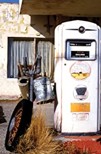 JP London SPMURLT0072 Prepasted Removable Wall Mural Retro Gas Pump Americana at 2' Wide by 3' High
