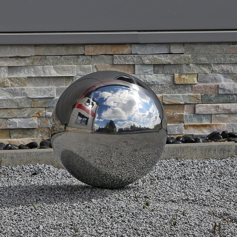cl garden grande boule en acier inoxydable v2 pour jardin 48 cm. Black Bedroom Furniture Sets. Home Design Ideas