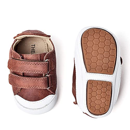 61ab578173888 THEE BRON Infant Toddler Baby Soft Sole Leather Shoes for Girls Boys  Walking Sneakers