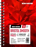 "Koh-I-Noor Bristol Smooth Bright White Paper Pad with In and Out Pages, 270 GSM, 5.5 x 8.5"", Side Wire-Bound, 20 Sheets per Pad (26170410413)"