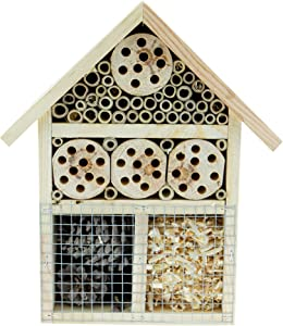 Clever Garden | Wooden Insect Hotel 25x9x31 cm| Great for All Types of Outside Insects
