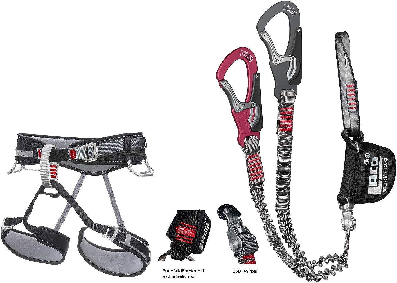 Juego de escalada LACD Comfort + cinturones de escalada y vía ...
