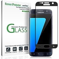 Verre Trempé Galaxy S7, amFilm Couverture Complète Protecteur D'écran pour Samsung Galaxy S7 (1 Pièce, Noir)