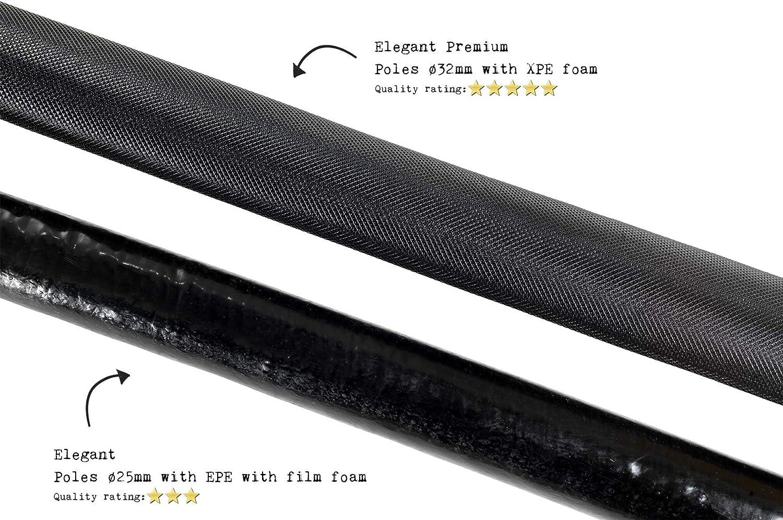 EXIT Elegant Trampolin /ø253cm mit Economy Sicherheitsnetz schwarz