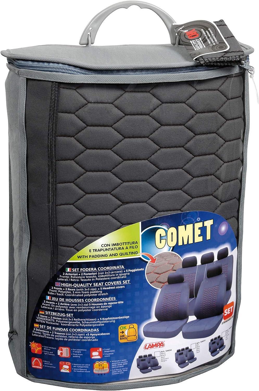 Lampa 54692 Set Fodere Comet Grigio//Nero