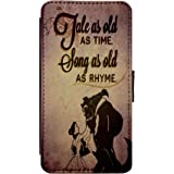 BEAUTY AND THE BEAST DISNEY CARTOON BELLE FAUX Leather Flip Phone Case Cover - Wallet - For iPhone & Samsung's (Samsung Galaxy S8)