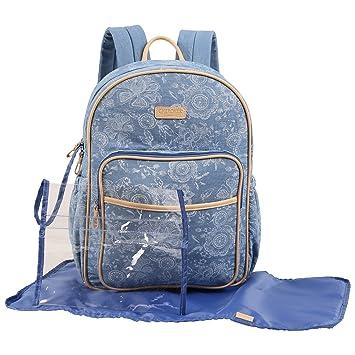 bc02d3cb723 Amazon.com : CHEROKEE Denim Print Backpack Diaper Bag : Baby