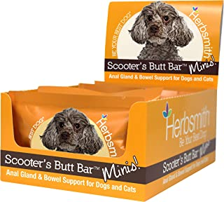 product image for Herbsmith Scooter's Butt Bars - Anal Gland and Bowel Support with Pumpkin Fiber for Dogs- Digestive Aid for Dogs - Dog Fiber Bars