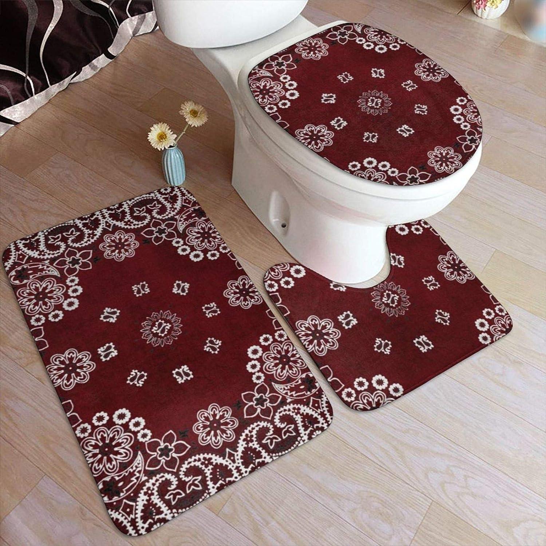 Set of 3 Bathroom Soft Flannel Mats Bath /& Toilet Pedestal Mat World Map Pattern