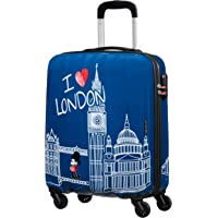 American Tourister Disney Legends Spinner S Equipaje de Mano Infantil, 55 cm, 36 L, Azul (Take Me Away Mickey London)