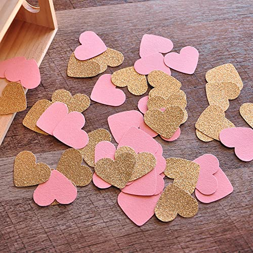 bridal brunch party decor bridal shower decorations coral and gold heart confetti 2 packs