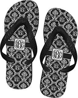33aa3a8a1 RNK Shops Monogrammed Damask Flip Flops (Personalized)