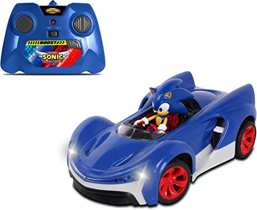Amazon Com Nkok Rc Sonic Ssas R2 Car With Lights Blue 614 Soundtrack Toys Games