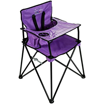 Amazing Ciao Baby Portable High Chair For Travel Fold Up High Chair With Tray Purple Gmtry Best Dining Table And Chair Ideas Images Gmtryco