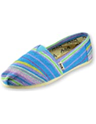 A&A Women Multicolor Slip-on Casual Flats Canvas Shoes Alpargatas (Indie)