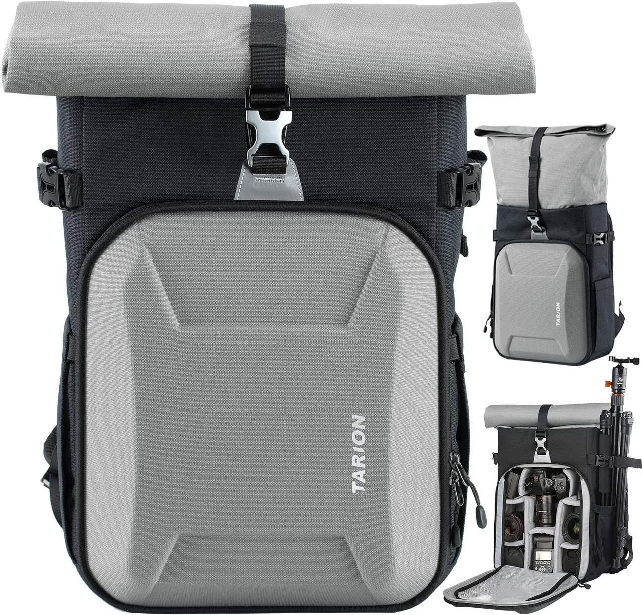 TARION XH Camera Bag Hardcase Camera Case Roll Top Camera Backpack | 15