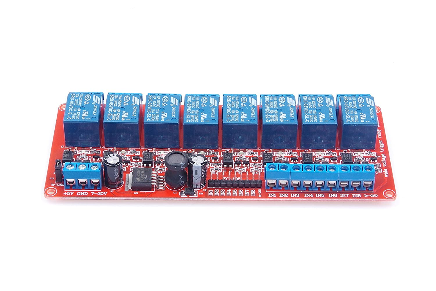 KNACRO 8-Channel 8-CH Relay Module DC 5-30V with Optocoupler Isolation H//L high//Low Level Triger for Arduino